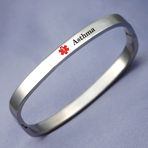 316L Stainless Medical Bangle Bracelet