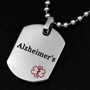 Alzheimer's Surgical Stainless Medical Pendant