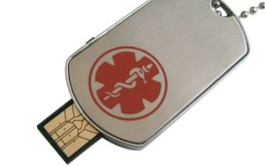 USB Medical Dog Tag