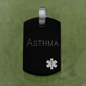 Black Pendant With White Medical Symbol