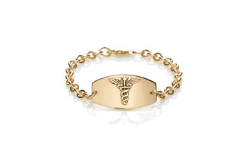 Gold Prestige Women Medical Bracelet