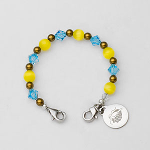 Links of Hope Blue and Yellow Bracelet